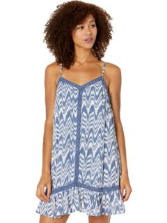 Платье из мятого хлопка с принтом тай-дай D5-9940 Rock and Roll Cowgirl