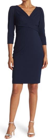 Платье-футляр с V-образным вырезом и кроссовером Maggy London