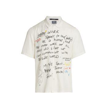 Рубашка с коротким рукавом Ksubi x Hidji Homework с графическим принтом Ksubi