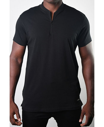 Мужская базовая футболка Henley Zip Tee Members Only