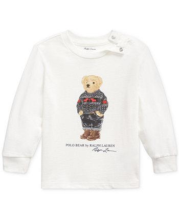Футболка Polo Bear из хлопкового джерси для маленьких мальчиков Ralph Lauren