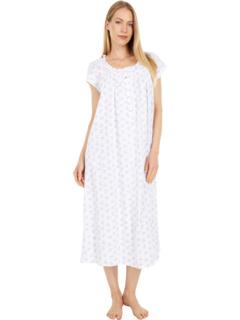 Длинное платье из трикотажного хлопкового джерси с короткими рукавами Eileen West