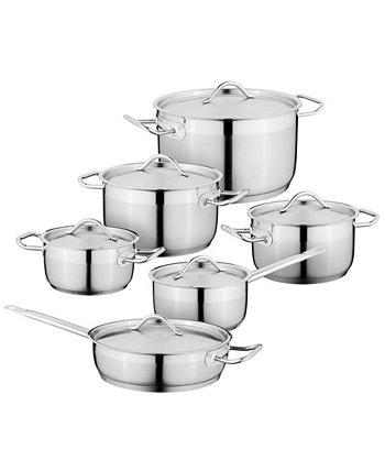 Набор посуды из нержавеющей стали Hotel 18/10 из 12 предметов BergHOFF