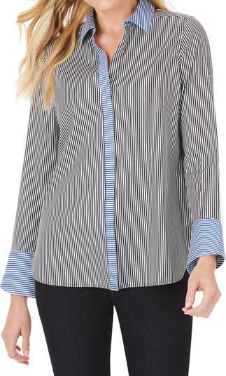 Рубашка с воротником в полоску с цветными блоками FOXCROFT