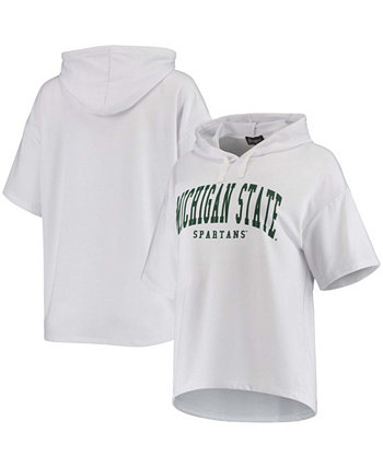 Женский белый пуловер с короткими рукавами из ткани Michigan State Spartans Flowy Tri-Blend Gameday Couture