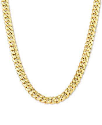 Мужское колье-цепочка Miami Cuban Link 20 дюймов, золото 10 карат Italian Gold