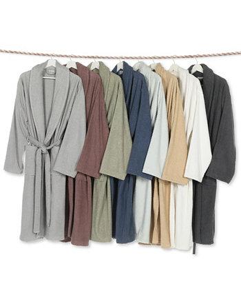 Банный халат унисекс с плетением в елочку Linum Home