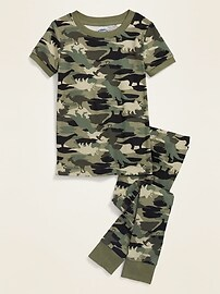 Пижама Unisex Camo-Dino для малышей и малышей Old Navy