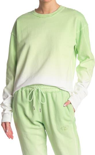 Ombre Printed Pullover Sweatshirt Nicole Miller