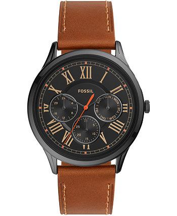 Мужские часы с кожаным ремешком Pierce Brown 44мм Fossil