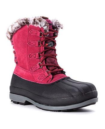 Женские высокие водонепроницаемые ботинки с кружевом Lumi для холодной погоды Propet