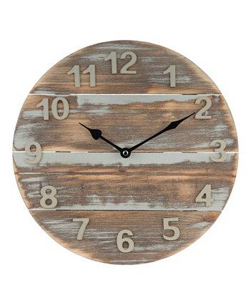 """Часы La Crosse 404-3430W 12 """"деревянные настенные часы из отполированного солнцем дерева La Crosse Technology"""