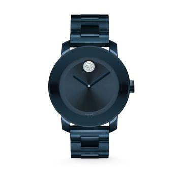 BOLD Crystal & amp; Синие часы с браслетом из нержавеющей стали Movado