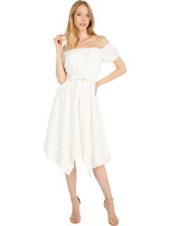 Off-the-Shoulder Stripe Dress BCBGMAXAZRIA