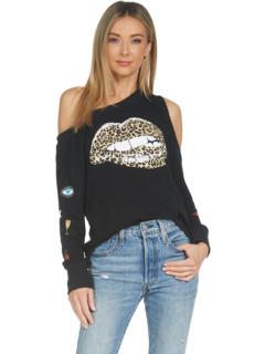 Толстовка с открытыми плечами Trinidy Leopard Lip Lauren Moshi