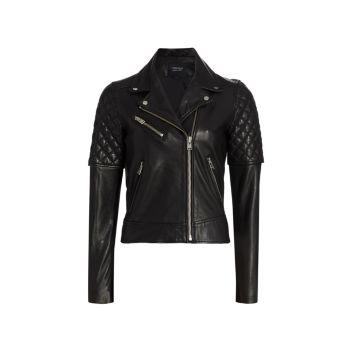Marilla Leather Biker Jacket LAMARQUE