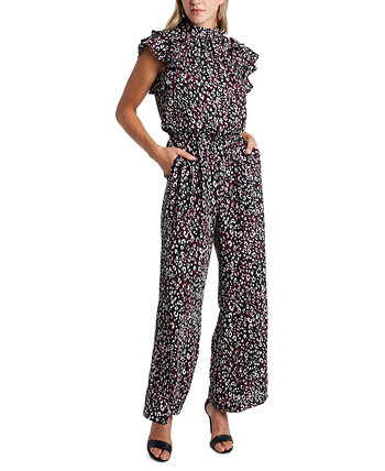 Animal-Print Flutter-Sleeve Jumpsuit 1.STATE