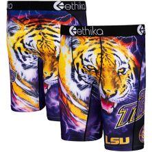 Men's Ethika Purple LSU Tigers Wordmark Boxer Briefs Unbranded