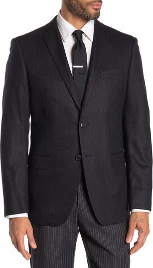 Black Birdseye Two Button Notch Lapel Jacket John Varvatos Star USA