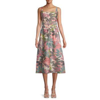 Платье Aimee с принтом листьев Parker