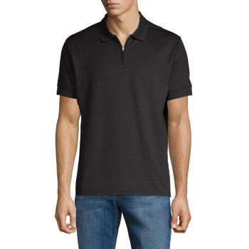 Textured Short-Sleeve Polo Vince Camuto