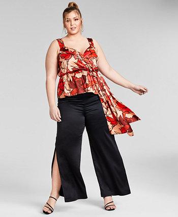 Модный топ с баской без рукавов больших размеров, созданный для Macy's Nina Parker