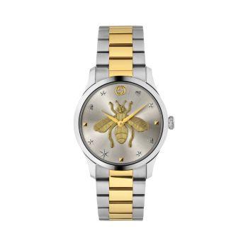 Нержавеющая сталь G-Timeless & amp; Часы с пчелиным покрытием из желтого золота с PVD-покрытием GUCCI