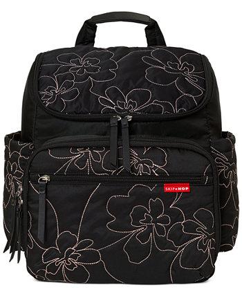 Цветочный стеганый пеленочный рюкзак Skip Hop
