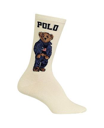 Женские носки с круглым вырезом Americana Polo Bear Ralph Lauren