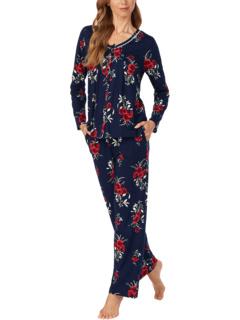 Soft Jersey Long Sleeve Pajama Set Carole Hochman