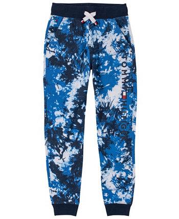 Спортивные штаны с принтом тай-дай и логотипом для маленьких мальчиков Tommy Hilfiger