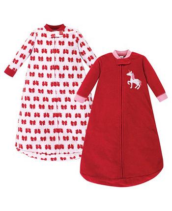 Спальный мешок с длинным рукавом и флисом Girl 2 Pack Hudson Baby