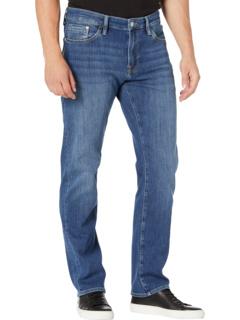 Zach Straight in Mid Foggy Feather Blue Mavi Jeans