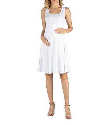Платье для беременных с приталенным кроем и расклешенной юбкой трапециевидной формы 24seven Comfort Apparel