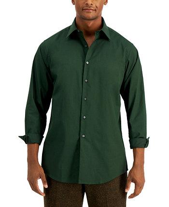 Мужская однотонная классическая рубашка, созданная для Macy's Club Room