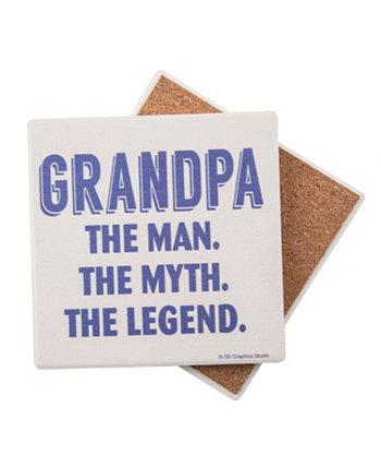 Grandpa the Legend Coaster THIRSTYSTONE