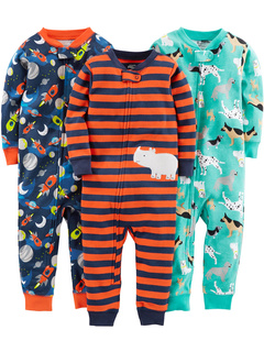 3 пары хлопковых пижам плотного кроя без ног (для младенцев) Simple Joys by Carter's