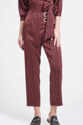 Укороченные брюки в полоску J.O.A.