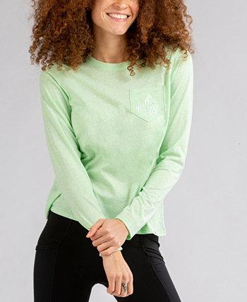 Женская футболка Flow с вышивкой и длинным рукавом с карманами LIV OUTDOOR