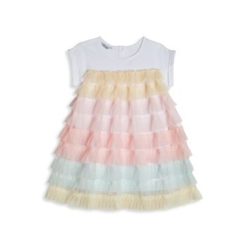Детские & amp; Little Girl's Pippa & amp; Многослойное платье-футболка Julie Mesh Pippa & Julie