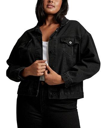 Plus Size Trendy 90s Baggy Denim Jacket COTTON ON