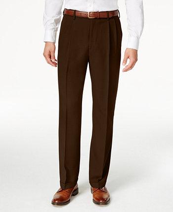 Мужские классические брюки со скрытым расширяющимся поясом и складками ECLO Stria Classic Fit HAGGAR