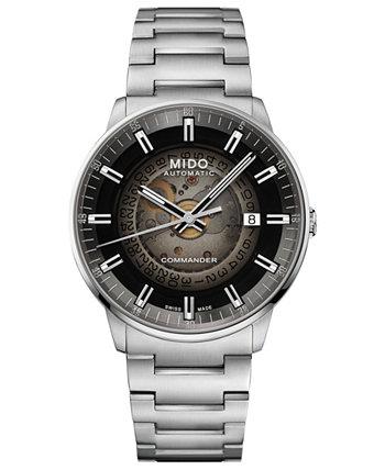 Мужские швейцарские автоматические часы Commander с градиентом из нержавеющей стали с браслетом 40 мм MIDO