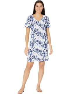 Платье прямого кроя с короткими рукавами Bobeau