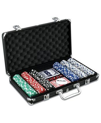Коллекция классических игр - набор для игры в покер из 300 предметов в черном алюминиевом корпусе John N. Hansen Co.
