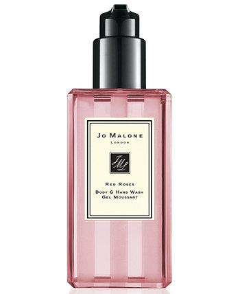 Средство для мытья рук и тела с красными розами, 8,5 унций. Jo Malone London