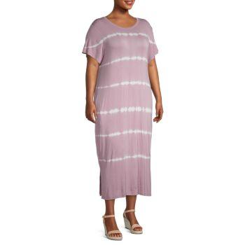Plus Tie-Dye T-Shirt Dress MARC NEW YORK PERFORMANCE