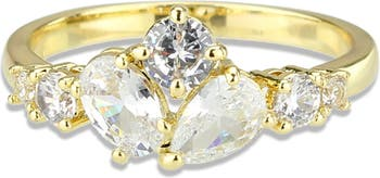 Кластерное кольцо CZ Covet