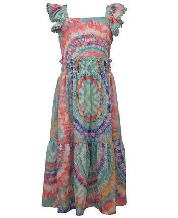 Большие девочки 2-шт. Tie-Dye Комплект с топом и юбкой макси Bonnie Jean