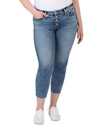 Модные джинсы-скинни Suki со средней посадкой больших размеров Silver Jeans Co.